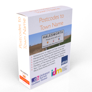Postcodes to Post Town Names List